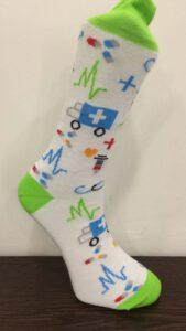 Voorbeeld sokken bedrukken